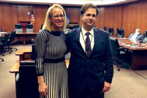 Activist Travis Paulsen and Rep. Morrison