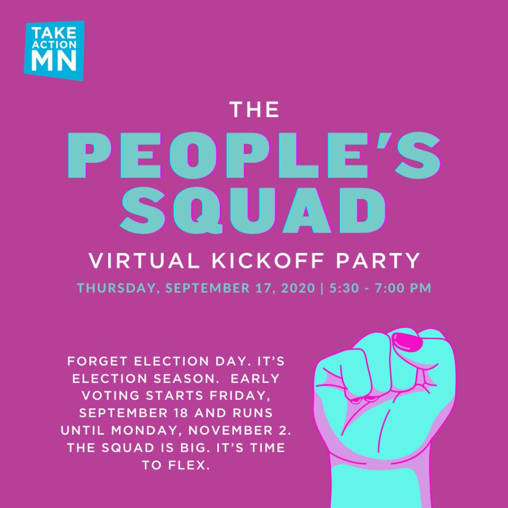 The People's Squad: Virtual Kickoff Party, Thursday, September 17, 2020