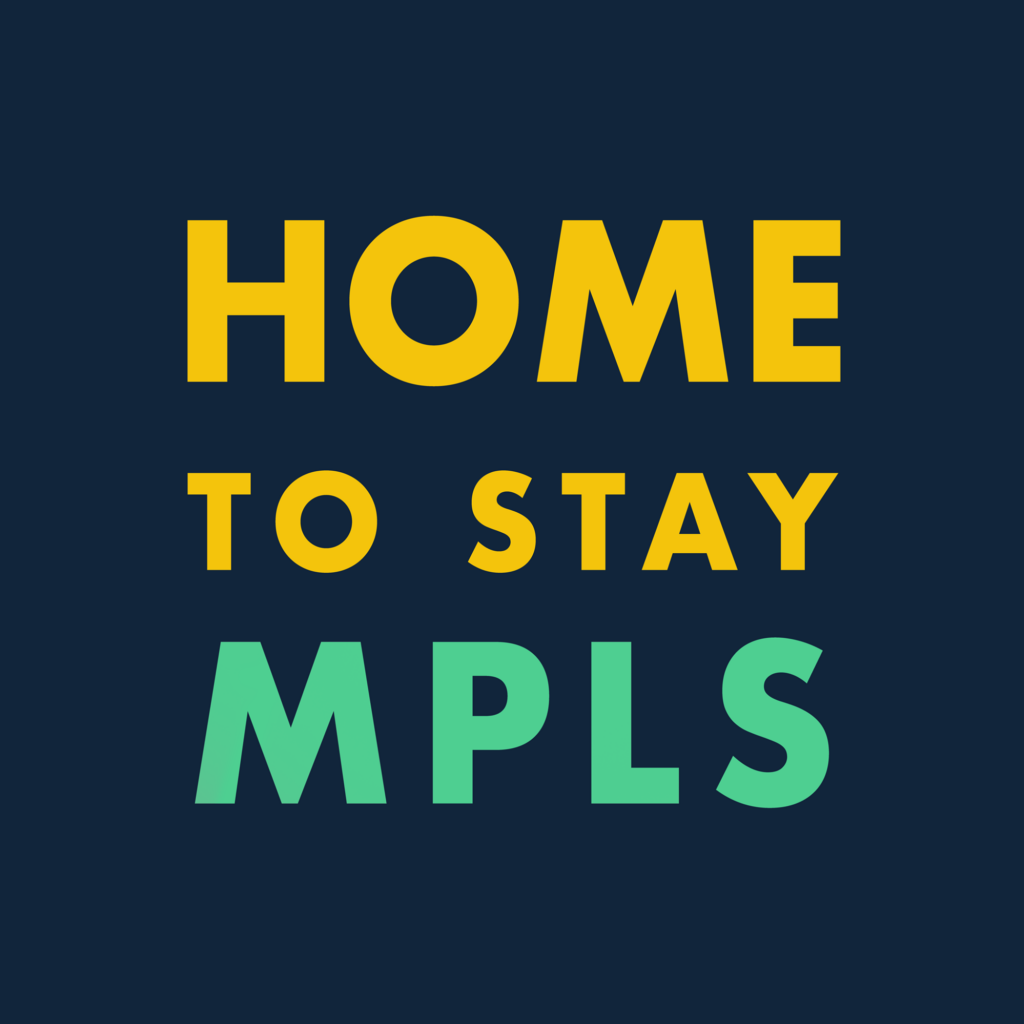 """logo: """"Home to stay MPLS"""""""