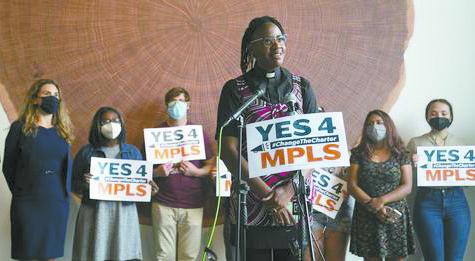 JaNaé Bates at YES 4 MPLS' press conference